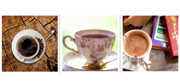 コーヒー紅茶ココアカフェイン量違い