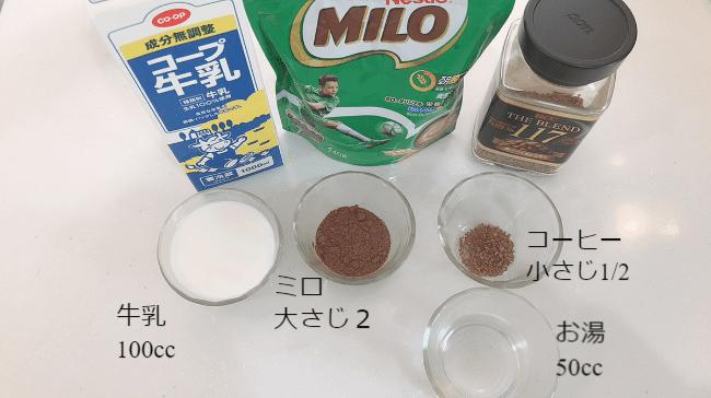 ミロコーヒー 分量